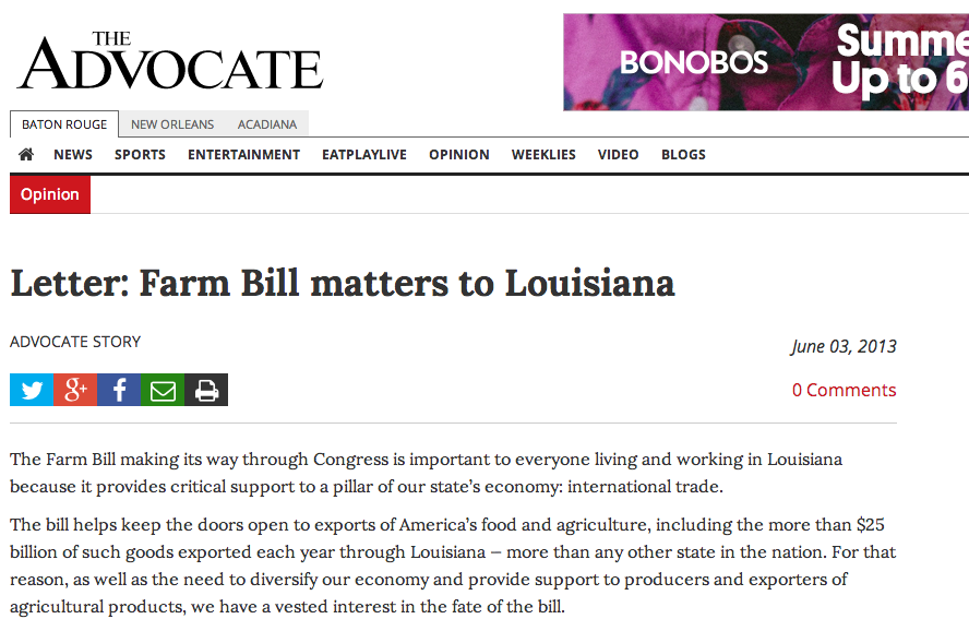 why farm bill matters louisiana
